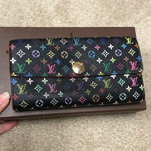 💯 authentic murakami multicolor wallet